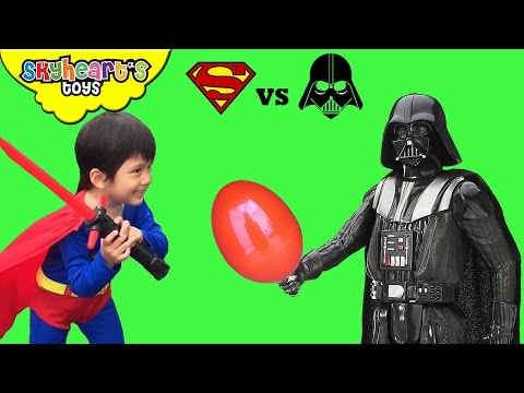 Darth Vader STOLE SURPRISE EGG from Superman! Star Wars Rogue One toys for kids playtime fun