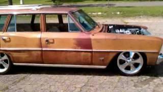 1966 Chevy Nova Wagon-Duramax Diesel with twin turbos