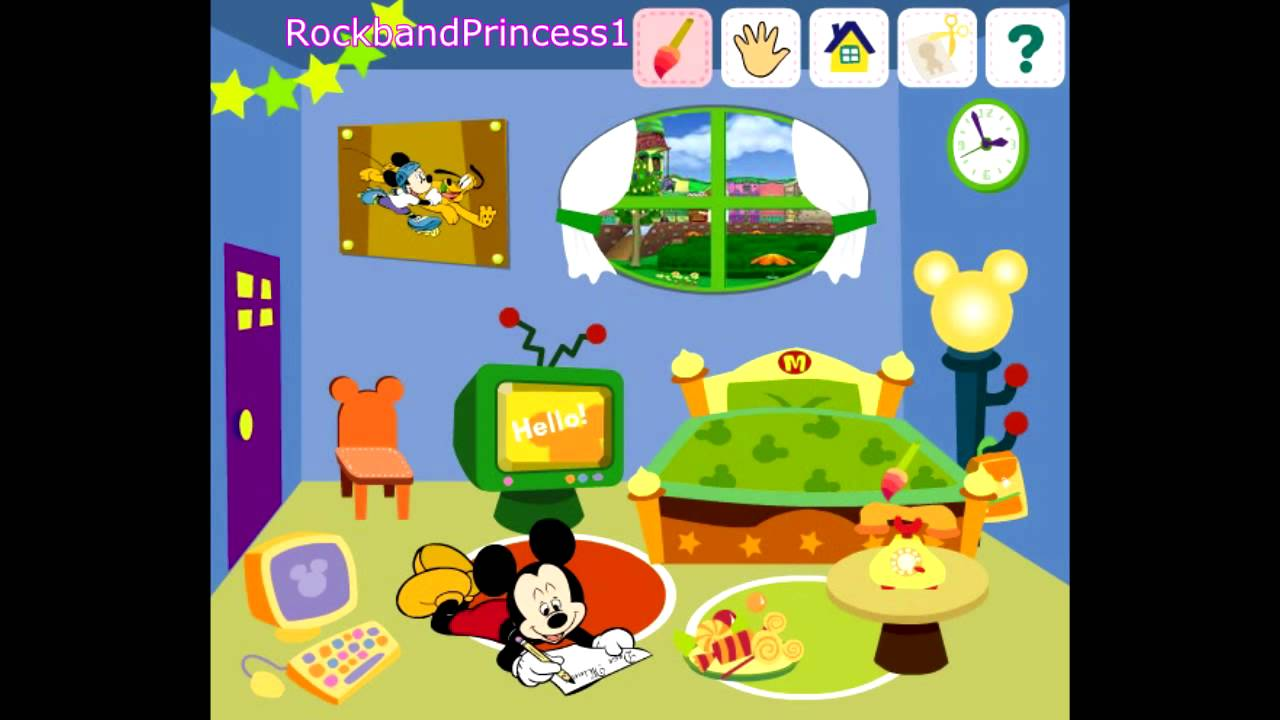 Mickey Mouse Clubhouse Game Decorate House Game Mickey