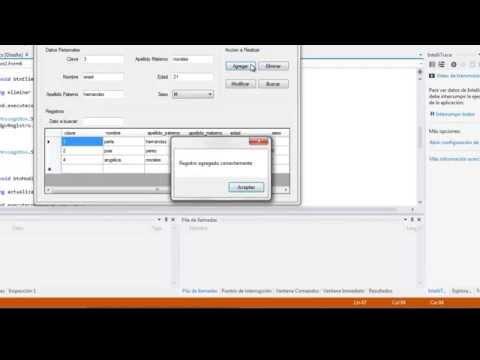 Insertar, modificar, eliminar y buscar datos en C#