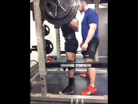 Heavy Squats, Sergio Luna 375X3 and Matt Clark 495X4 (Rep PR) Image 1