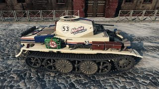 World of Tanks Pz.Kpfw. I Ausf. C (YodaSchlumpf Skin) 13 FRAGS !!! - Winter Himmelsdorf