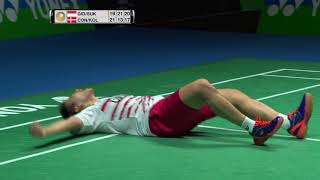 Amazing SUKAMULJO GIDEON winning rally 2017 YONEX All England