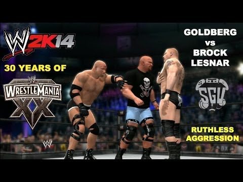 Wwe 2k14: 30 Years Of Wrestlemania (ep27) - Goldberg Vs Brock Lesnar (steve Austin Guest Referee) video