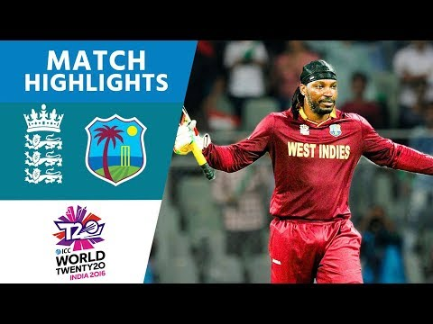 England v West Indies ICC World Twenty20 Cricket Highlights
