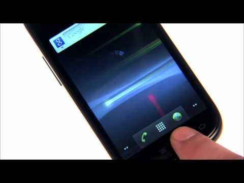 Google Samsung Nexus S i9023  - Bedienelemente und Home Screens