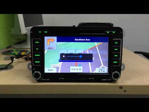 How to install GPS navigation software and set navi button on1024*600 android 4.4 car stereo