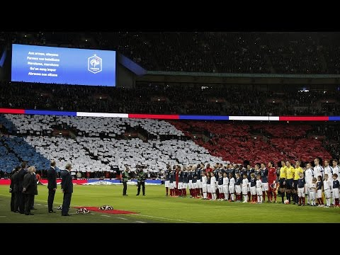 England & France Pay Tribute to Victims at Wembley Stadium | Paris Terror Attacks