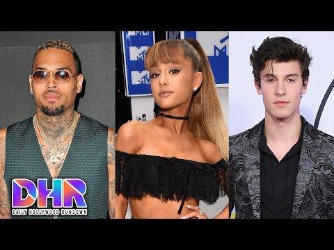 Chris Brown STEALS Photo of Ariana Grande!? - Shawn Mendes BTS Collaboration? (DHR)