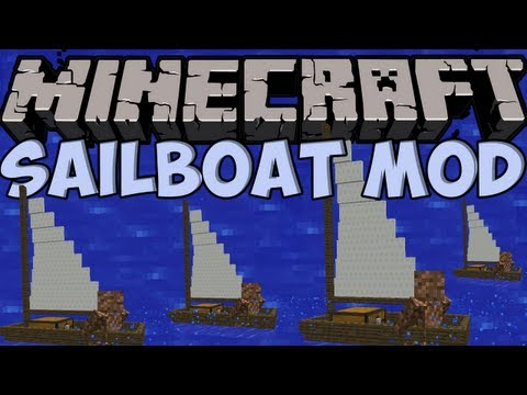 Minecraft Mods - SAILBOAT MOD! SAIL AROUND YOUR WORLD! [1.4.5]