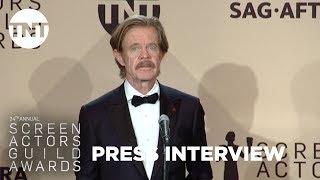 William H. Macy: Press Room Q&A | 24th Annual SAG Awards | TNT