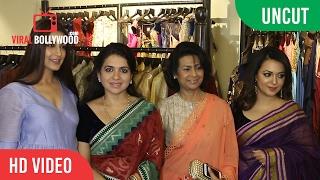 UNCUT - Shaina NC's Handloom Collection Of Sarees | Sonali Bendre, Krishika Lulla | Jhelum