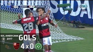 Gols - Flamengo 4 x 0 Chapecoense - Sul-Americana 2017 - Fox Sports HD 60 fps
