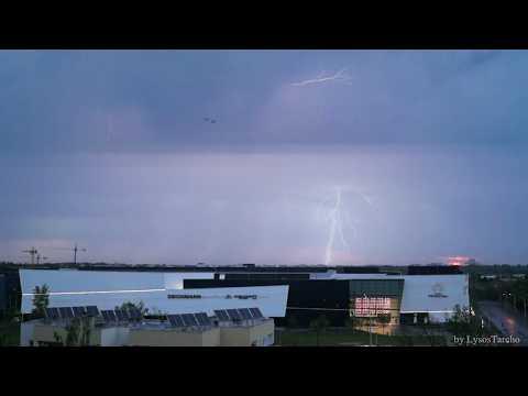 Gwałtowna Poranna Burza W Warszawie -30.04.2018- Morning Loud Thunderstorm Warsaw