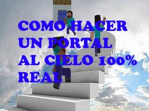 COMO HACER EL PORTAL AL CIELO EN MINECRAFT 100% REAL