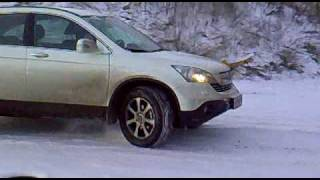 honda cr-v 2008 - ice Off Road without esp на льду без esp