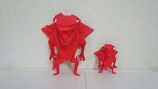 Origami Devil Introduction (from The Book 'genuine Origami' By Jun Maekawa)