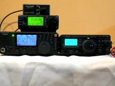 Yaesu FT-897D & ICOM 706MKIIG & Alinco DX-SR8