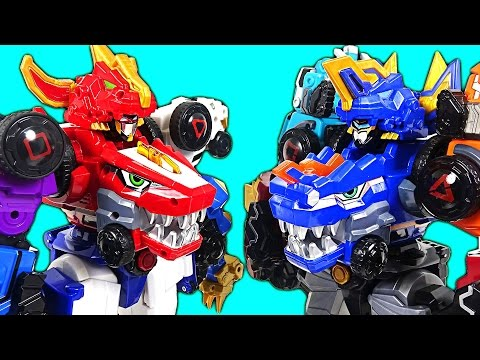 The strongest rivals appeared! DinoCore S02 - Part 1 - Ultra D Saber  vs Ultra D Buster - DuDuPopTOY