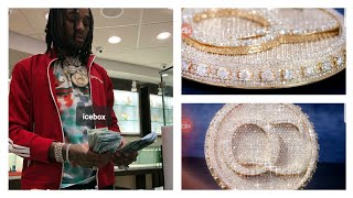 Quavo NEW CHAIN is a 100,000 CARAT DIAMOND SPINNING CHAIN!!!