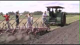 Steam Tractors, etc. plowing at the NTA Show Wauseon, Ohio 2012