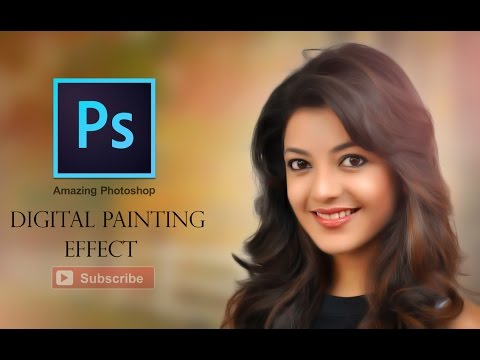 Photoshop CC Tutorial - Digital Painting Effect