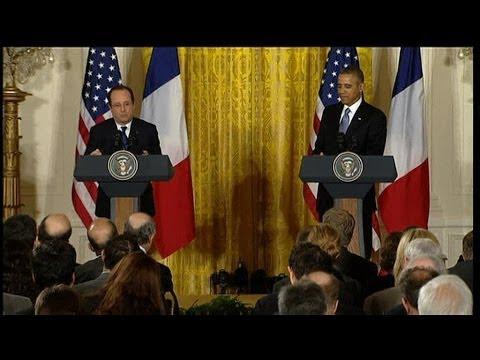 Quand François Hollande rebondit sur un trait d'humour de Barack Obama -- 11/02