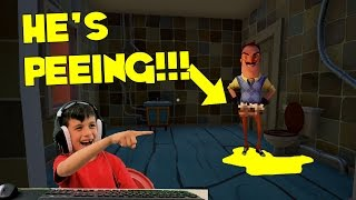 Hello Neighbor is going PEE Alpha 2 Ghost Mode to the BASEMENT!!