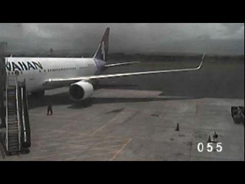 Surveillance Video: Teen Stowaway Dropping From Jet
