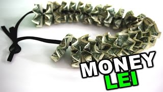 How to make a money lei for graduation or wedding gift, DIY tutorial
