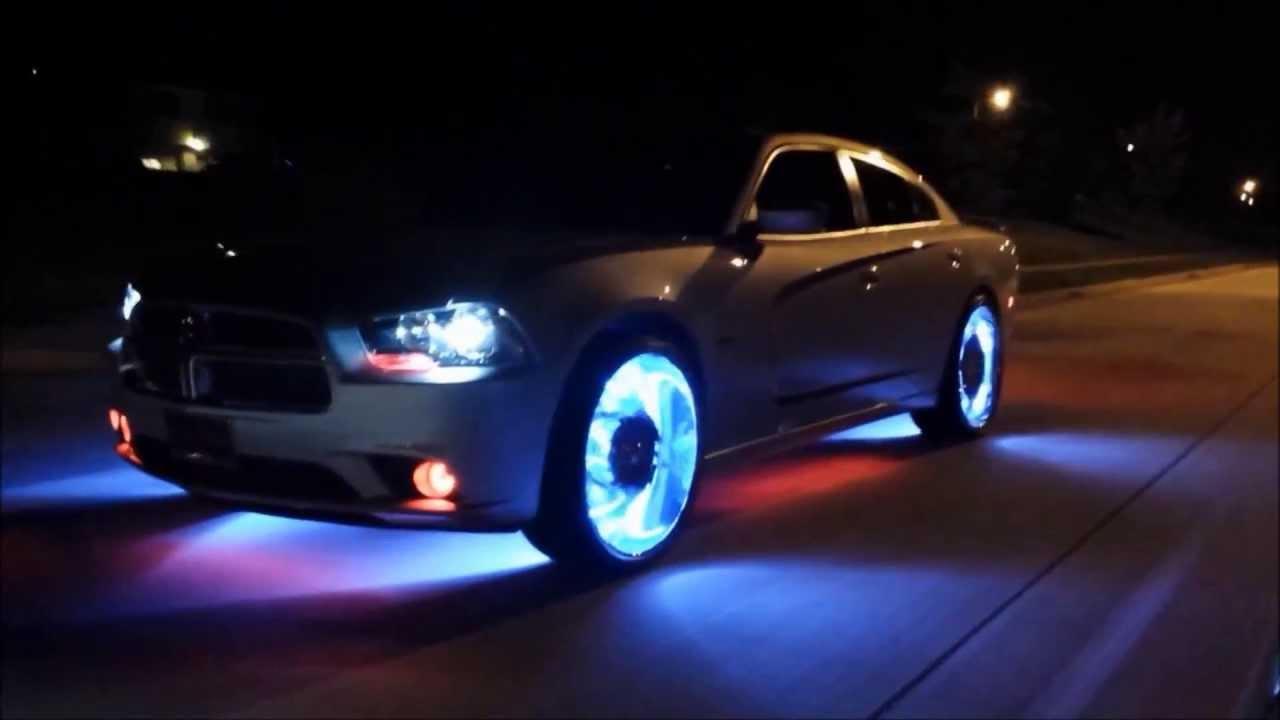 Custom Chrysler 300 >> Crazy LED rim kit - YouTube