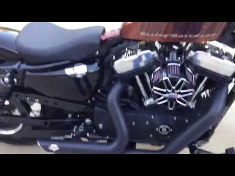 2014 Harley Davidson Sportster 48 xl1200x Stock Pipes vs VH Short Shots
