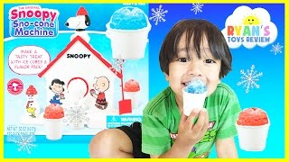 Snoopy Snow Cone Maker Machine Toy from The Peanuts Movie