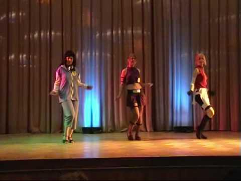 Naruto girls dance (Sakura, Ino, Hinata sexy dance)
