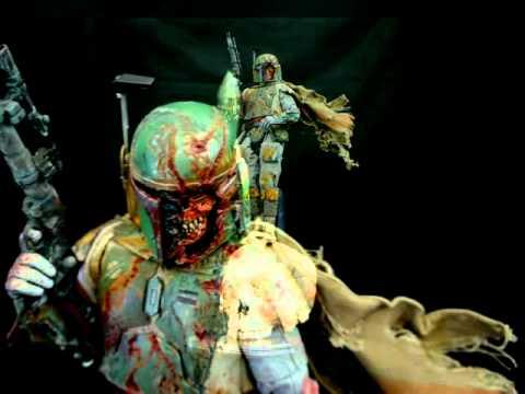 walking dead bobafett 16 scale 12quot figure custom zombie