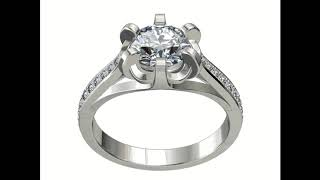 JEWELRY ENGAGEMENT RING STL FILE FOR DOWNLOAD AND PRINT- CC4 3D print model