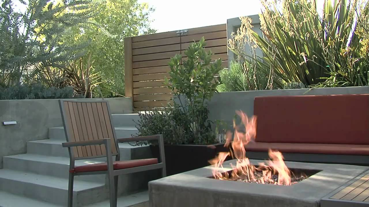 Concrete Fire Pit Amp Seat Walls Youtube