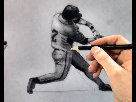Baseball Bats Drawings How to Draw a Baseball Player