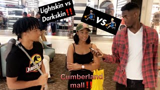 ⛹🏾‍♂️vs⛹🏼‍♂️ Do you prefer Lightskin or Darkskin survey in mall‼️(social experiment)