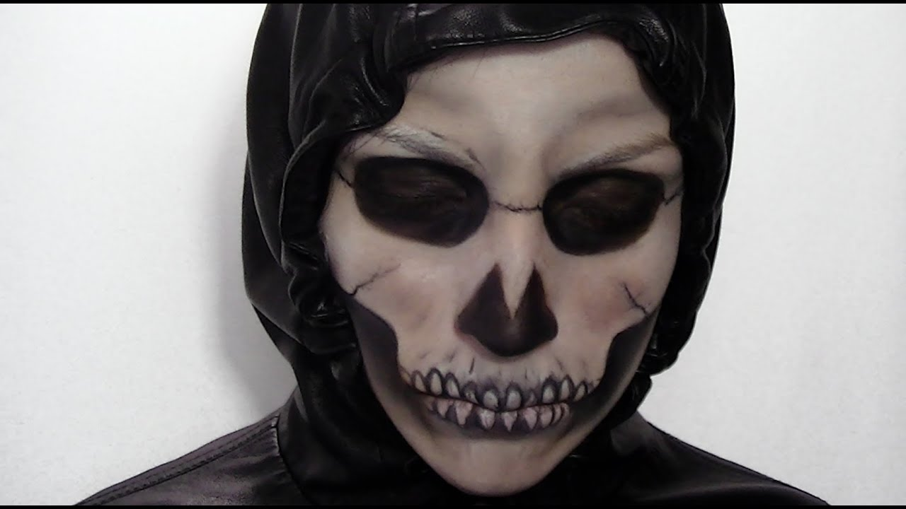 Maquillage dHalloween: Squelette - YouTube