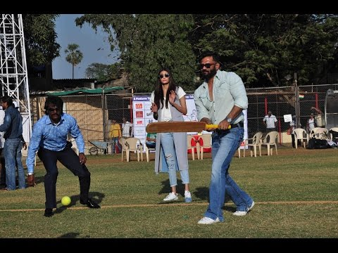 Suniel Shetty & Athiya Shetty At Charity Cricket Match Between Differently Abled Children