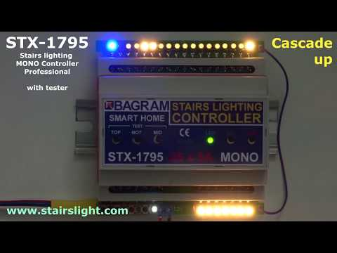 Stairs lighting MONO Controller STX-1795 (Professional) with tester