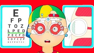 ★NEW★ 👀 Caillou gets an Eye Test 👀 Funny Animated Caillou | Cartoons for kids | Caillou