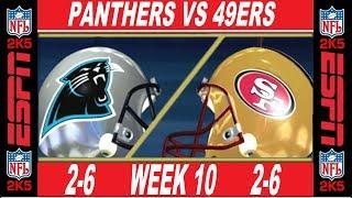 49ers vs Panthers Week 10 ESPN NFL 2K5