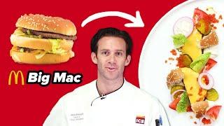 Gourmet Chef Makes A Big Mac Super Fancy