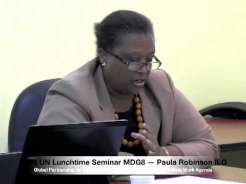 IGDS UN Lunchtime Seminar MDG8 — Develop a Global Partnership for Development