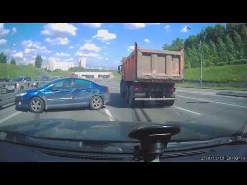 ДТП 26.05.16 Варшавское ш. Дикий самосвал.