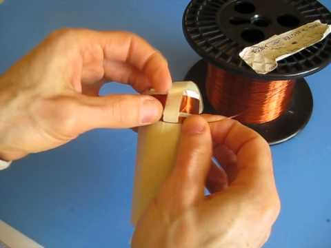 Make a Crystal Radio Coil with Taps