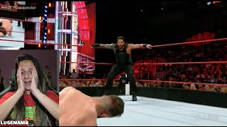WWE Raw 7/25/16 Roman Reigns vs Finn Balor