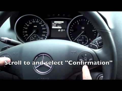 2005-2011 Mercedes ML Maintenance Light Reset